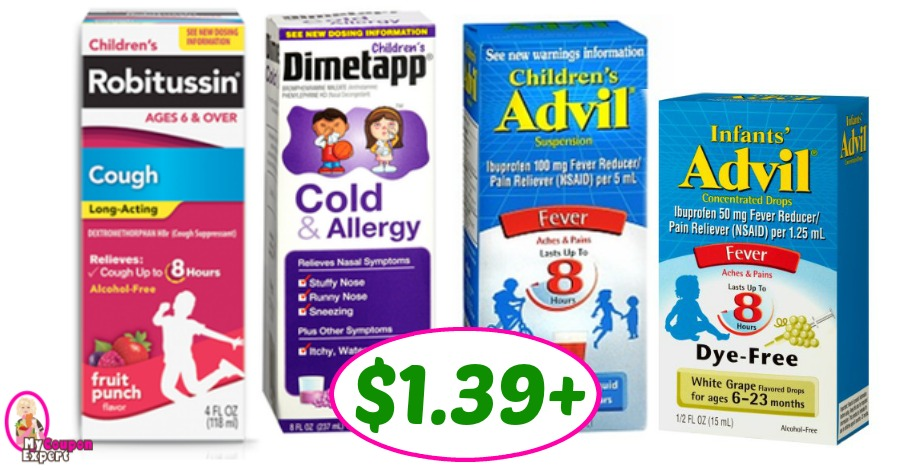 Infant's and Childrens Advil, Robitussin & Dimetapp deal at Publix!