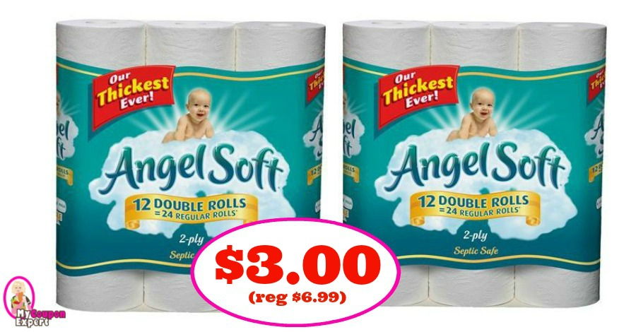 Angel Soft Tissue Paper 12 Double Rolls $3.00 at Publix!