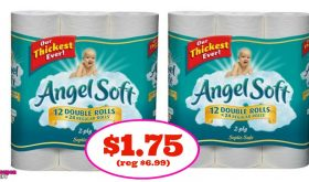 Angel Soft 12 Double Rolls $1.75 each at Publix ONE DAY ONLY!