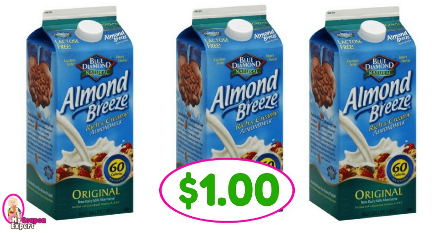 Blue Diamond Almond Milk just $1.00 at Winn Dixie!