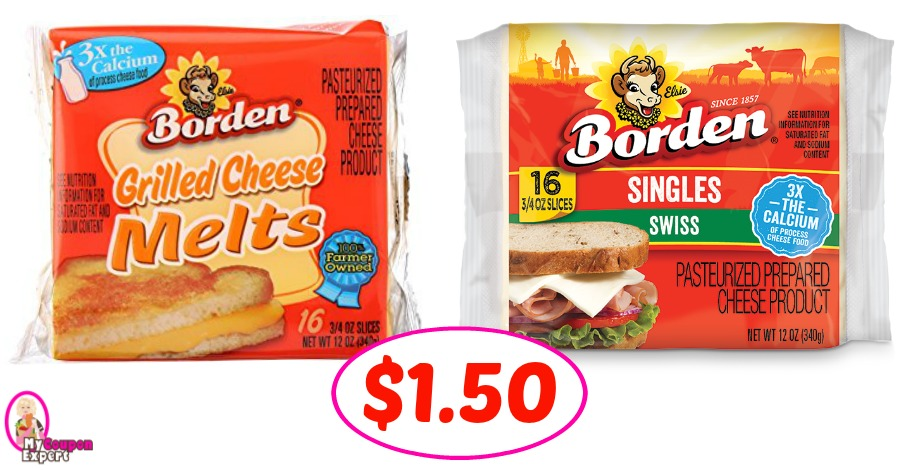 Borden Cheese Slices just $1.50 each pack at Winn Dixie!
