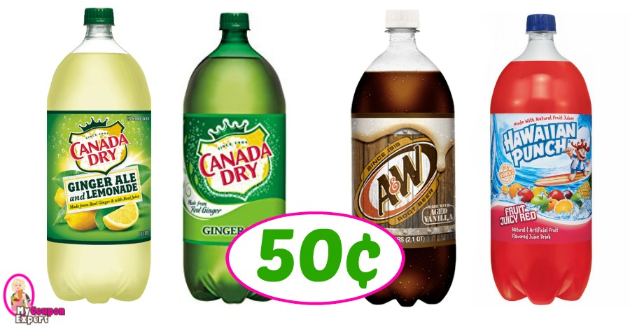 Look!  Canada Dry 2 liters 50¢ each (FREE FOR SOME) at CVS!!