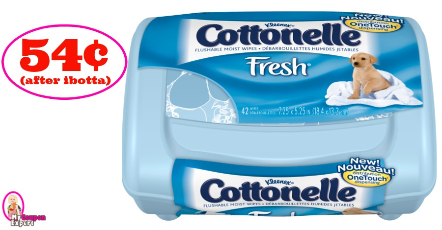 Cottonelle Moist Wipes just 54¢ at Publix!