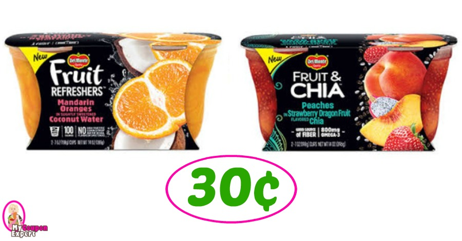 Del Monte Fruit Cups just 30¢ at Publix!