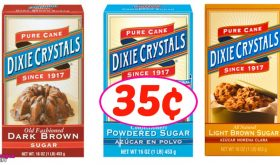 Dixie Crystals Sugar just 35¢ at Winn Dixie!