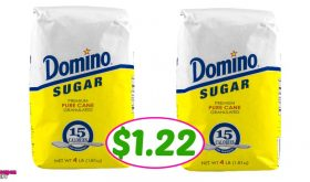 Domino Sugar, 4 lb bag just $1.22 at Publix!