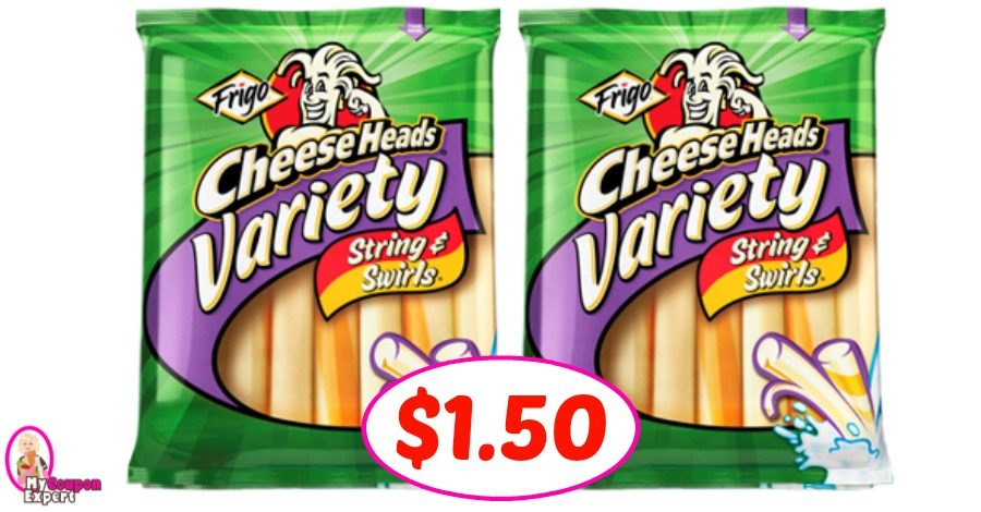 Frigo Cheese Heads just $1.50 per pack at Winn Dixie!