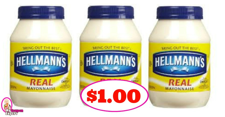 Hellmanns Mayo just $1.00 each at Winn Dixie for some!