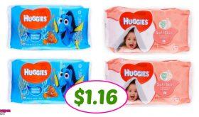 Huggies Wipes just $1.16 per pack at Publix!