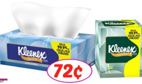 Kleenex Tissues just 72¢ each at Publix!