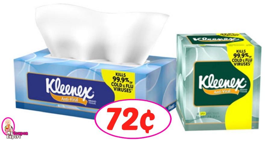 Kleenex Tissues just 72¢ each at Publix!
