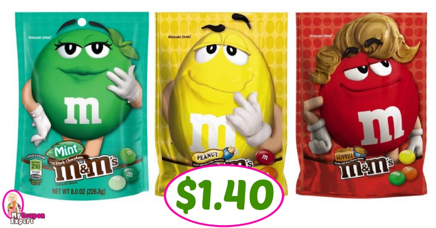 M&M's Candies just $1.40 per bag at Publix!