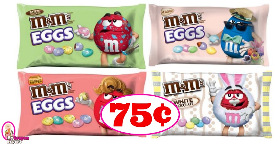 Easter M&Ms just 75¢ each bag at CVS!!
