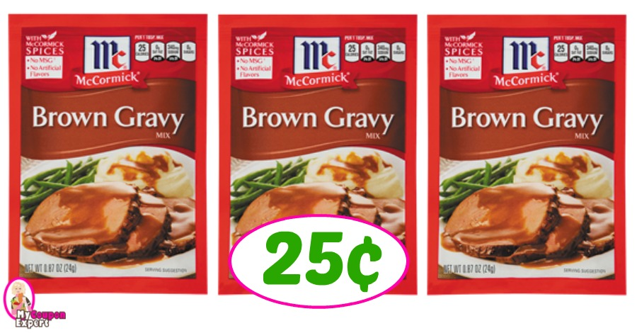 McCormick Brown Gravy just 25¢ each at Publix!