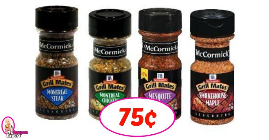 McCormicks Grill Mates just 75¢ at Winn Dixie!
