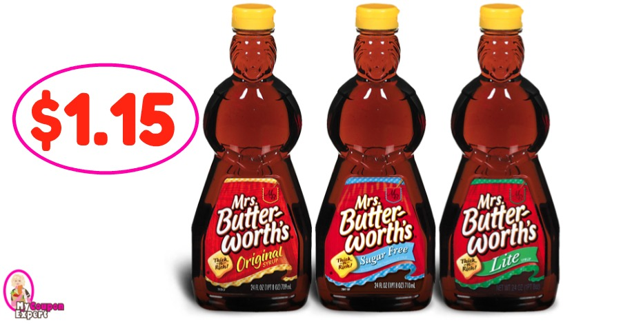 Mrs Butterworth Syrup just $1.15 at Winn Dixie!