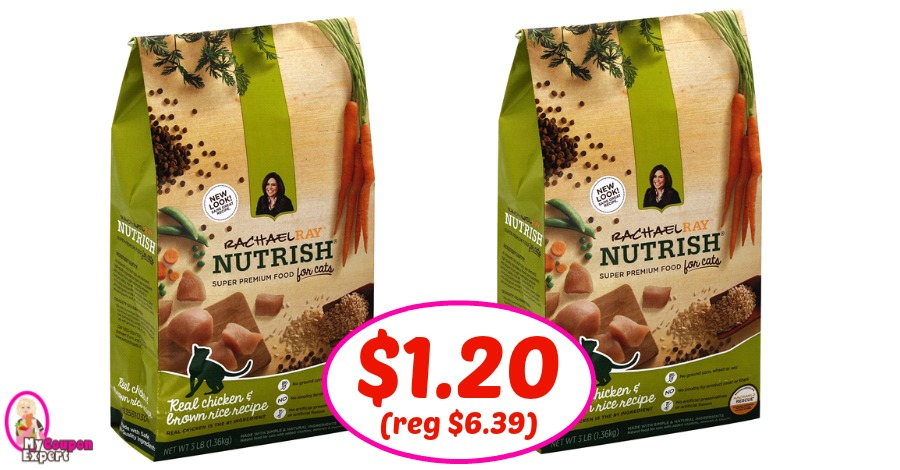 Rachael Ray Nutrish Dry Cat Food $1.20 each at Publix!
