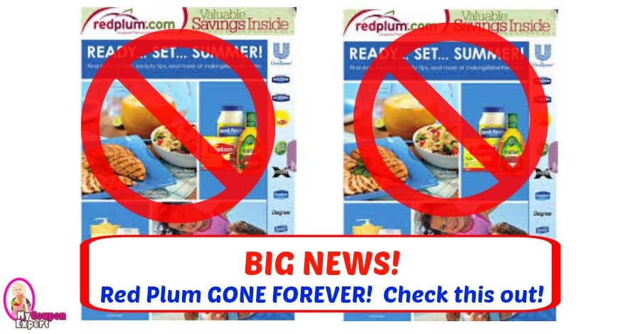BIG NEWS!  RedPlum GONE FOREVER!  Don't worry though!