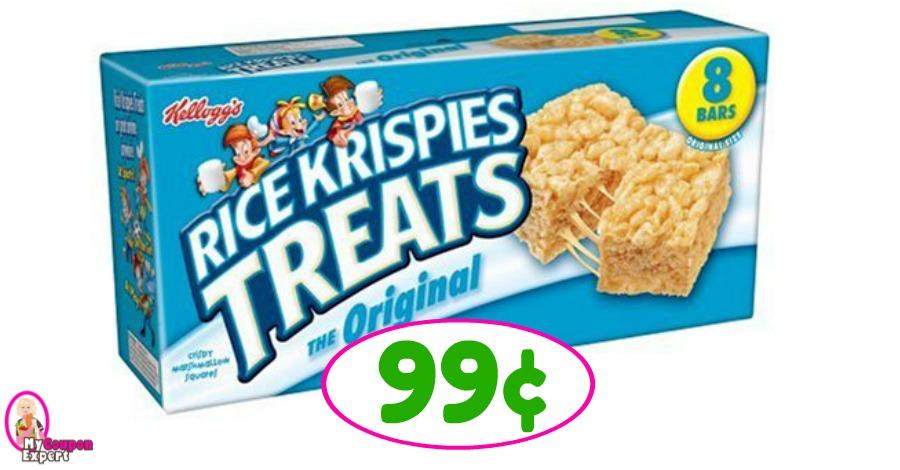 Rice Krispies Treats just 99¢ at Winn Dixie!