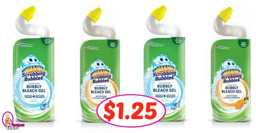 Scrubbing Bubbles Toilet Cleaner $1.25 at Publix!