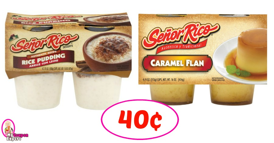 Senor Rico Desserts just 40¢ each pack at Winn Dixie!