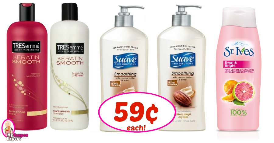 Tresemme, Suave Lotion & St Ives Body Wash 59¢ at Winn Dixie!