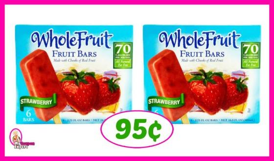 Whole Fruit Bars just 95¢ at Publix!!