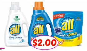 All Detergent just $2.00 each at Winn Dixie this week!