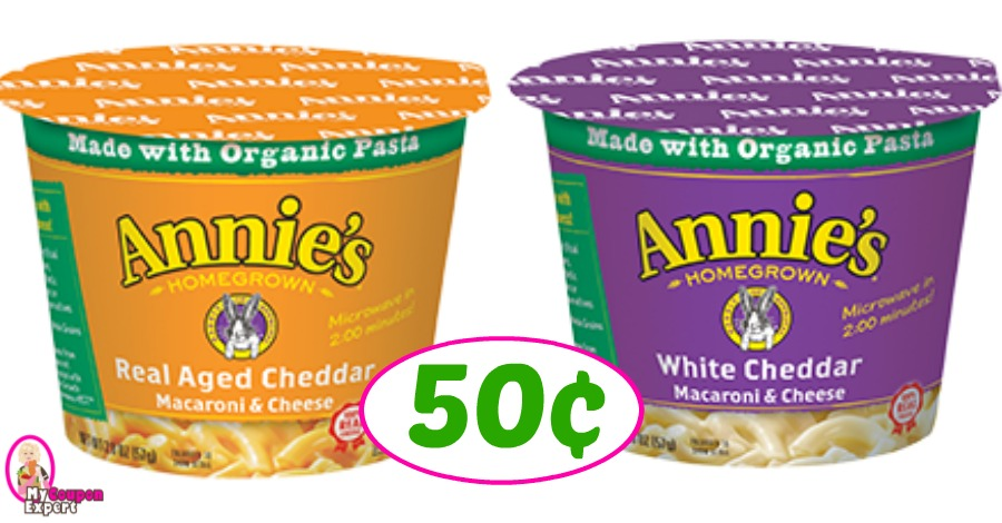 Annies Mac and Cheese Cups just 50¢ at Publix!