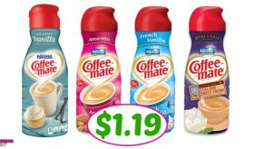 Coffee-Mate Coffee Creamer BIG BOTTLES just $1.09 at Publix!