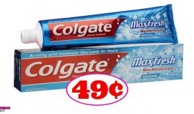 Colgate Max Toothpaste just 49¢ at CVS!!