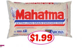 Mahatma Rice FIVE LB BAG just $1.99 at Winn Dixie!