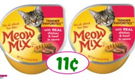 Meow Mix Wet Cat Food just 11¢ each at Publix!