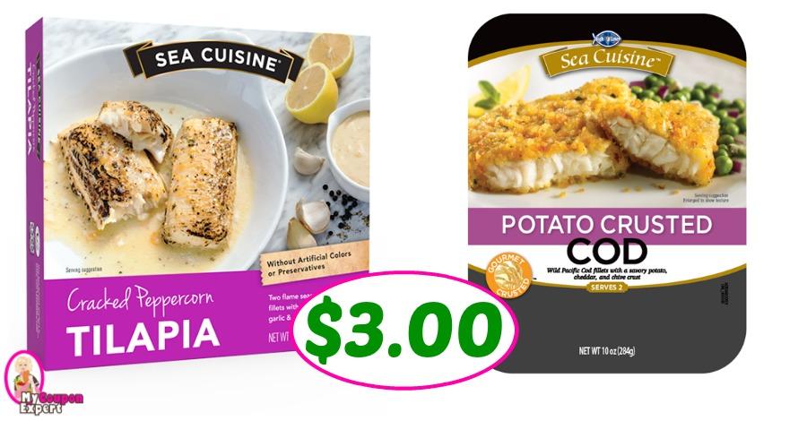 Sea Cuisine Entrees just $3.00 each at Publix!