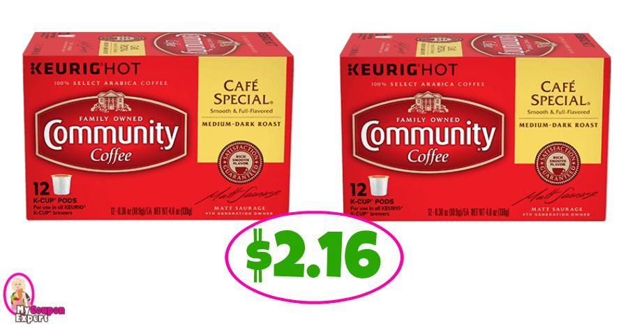 Community Coffee K-Cups 12 packs $2.16 at Publix!