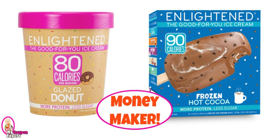 Enlightened Ice Cream Pint or Bars MONEY MAKER at Publix!