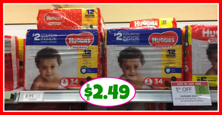 Huggies Diapers just $2.49 at Publix!