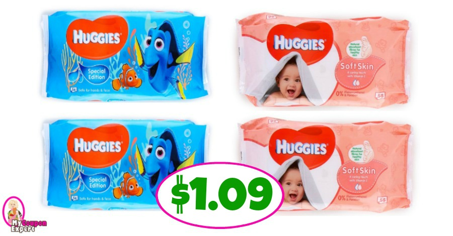 Huggies Wipes just $1.09 each at Publix!