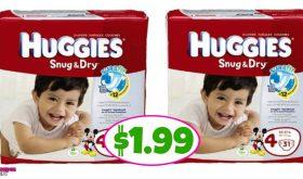Huggies Jumbo Diapers $1.99 at Publix!!