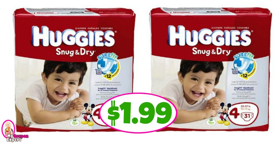 Huggies Jumbo Diapers $1.99 at Publix!!