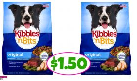 Kibbles 'N Bits Dog Food $1.50 at Winn Dixie!