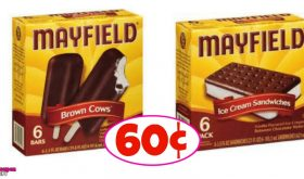 Mayfield Novelties just 60¢ each box at Winn Dixie!