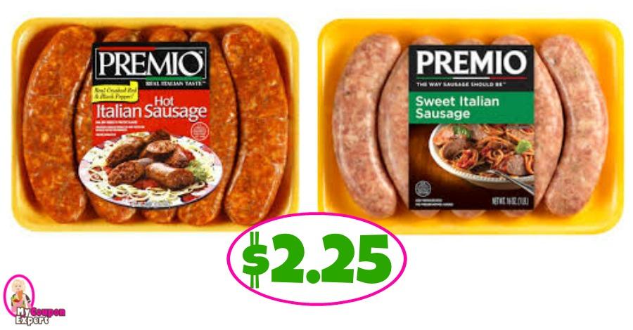 Premio Italian Sausage $2.25 each at Winn Dixie!