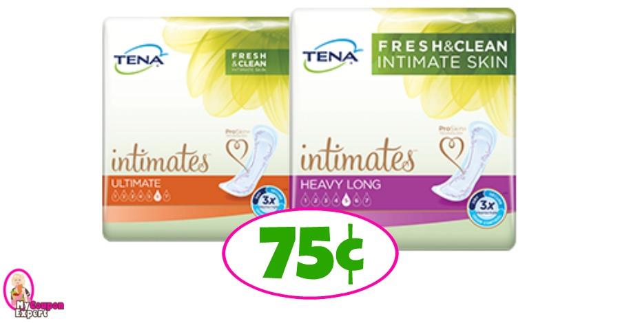 Tena Pads just 75¢ at Publix!!