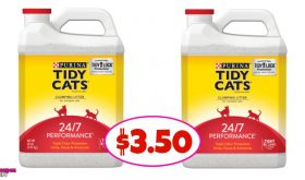Tidy Cats Litter, 20 lb $3.50 each at Winn Dixie!