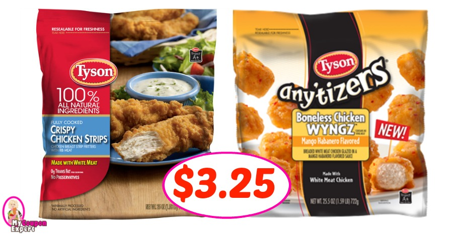 Tyson Chicken Strips or Any'tizers $3.25 per bag at Winn ...