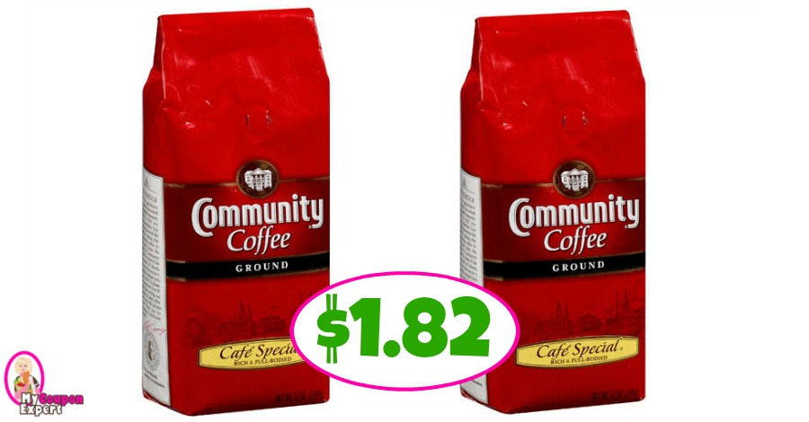 Community Coffee Bags $1.82 each at Publix!