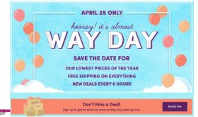 HUGE SALE at Wayfair April 25th get ready!