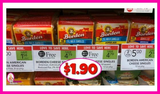 Borden Cheese Slices $1.90 at Publix!