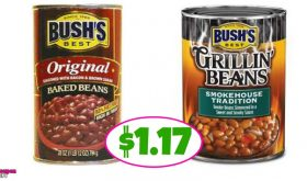 Bush's Baked or Grillin Beans $1.17 at Publix!